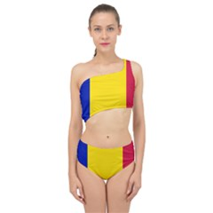 Civil Flag Of Andorra Spliced Up Two Piece Swimsuit