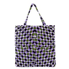 Hypnotic Geometric Pattern Grocery Tote Bag by dflcprints