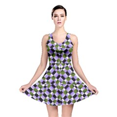 Hypnotic Geometric Pattern Reversible Skater Dress