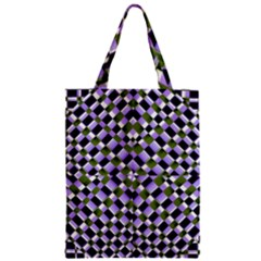 Hypnotic Geometric Pattern Zipper Classic Tote Bag