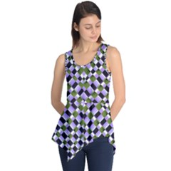 Hypnotic Geometric Pattern Sleeveless Tunic by dflcprints