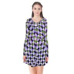 Hypnotic Geometric Pattern Flare Dress