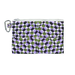 Hypnotic Geometric Pattern Canvas Cosmetic Bag (medium) by dflcprints