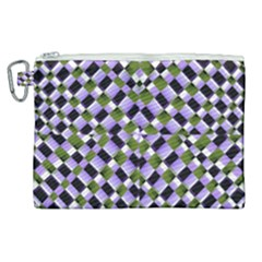 Hypnotic Geometric Pattern Canvas Cosmetic Bag (xl) by dflcprints