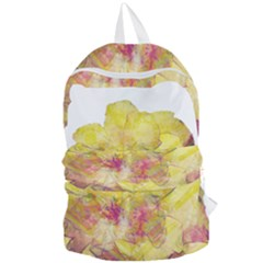 Yellow Rose Foldable Lightweight Backpack by aumaraspiritart