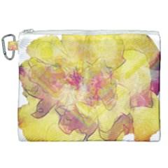 Yellow Rose Canvas Cosmetic Bag (xxl) by aumaraspiritart
