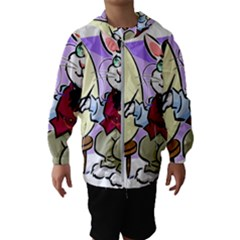 Bunny Easter Artist Spring Cartoon Hooded Wind Breaker (kids)