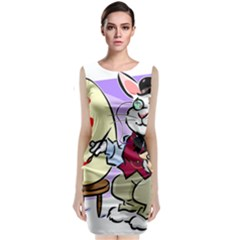 Bunny Easter Artist Spring Cartoon Classic Sleeveless Midi Dress