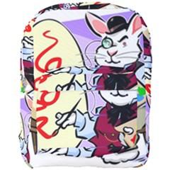 Bunny Easter Artist Spring Cartoon Full Print Backpack