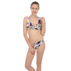 Bunny Easter Artist Spring Cartoon Classic Banded Bikini Set