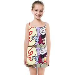 Bunny Easter Artist Spring Cartoon Kids Summer Sun Dress