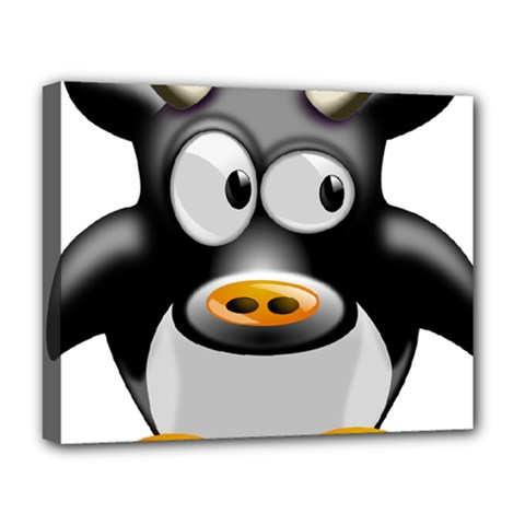 Cow Animal Mammal Cute Tux Deluxe Canvas 20  X 16