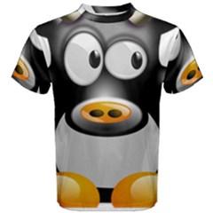 Cow Animal Mammal Cute Tux Men s Cotton Tee