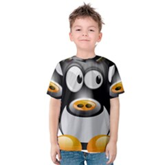 Cow Animal Mammal Cute Tux Kids  Cotton Tee