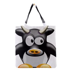 Cow Animal Mammal Cute Tux Grocery Tote Bag