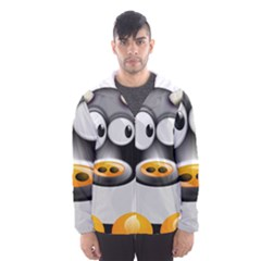Cow Animal Mammal Cute Tux Hooded Wind Breaker (men)