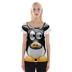 Cow Animal Mammal Cute Tux Cap Sleeve Tops