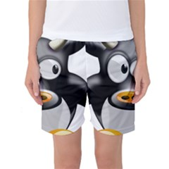 Cow Animal Mammal Cute Tux Women s Basketball Shorts