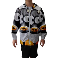 Cow Animal Mammal Cute Tux Hooded Wind Breaker (kids)