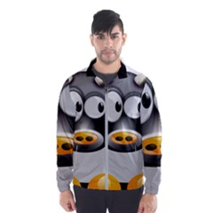 Cow Animal Mammal Cute Tux Wind Breaker (men)