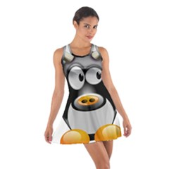 Cow Animal Mammal Cute Tux Cotton Racerback Dress