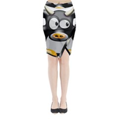 Cow Animal Mammal Cute Tux Midi Wrap Pencil Skirt