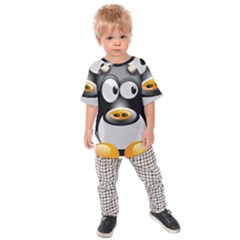Cow Animal Mammal Cute Tux Kids Raglan Tee