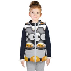 Cow Animal Mammal Cute Tux Kid s Hooded Puffer Vest
