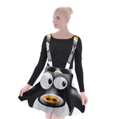 Cow Animal Mammal Cute Tux Suspender Skater Skirt