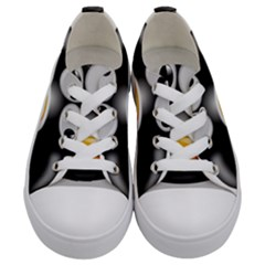 Cow Animal Mammal Cute Tux Kids  Low Top Canvas Sneakers