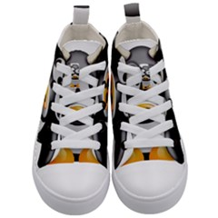 Cow Animal Mammal Cute Tux Kid s Mid Top Canvas Sneakers