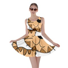 Cats Kittens Animal Cartoon Moving Skater Dress