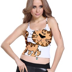Cats Kittens Animal Cartoon Moving Spaghetti Strap Bra Top