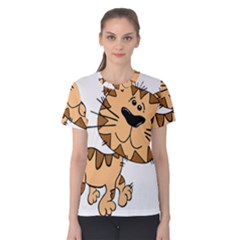 Cats Kittens Animal Cartoon Moving Women s Cotton Tee