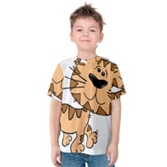 Cats Kittens Animal Cartoon Moving Kids  Cotton Tee