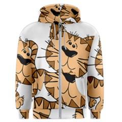 Cats Kittens Animal Cartoon Moving Men s Zipper Hoodie