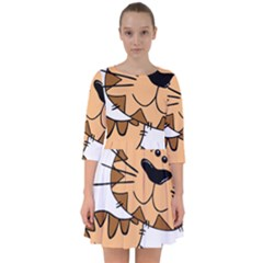 Cats Kittens Animal Cartoon Moving Smock Dress