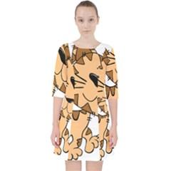 Cats Kittens Animal Cartoon Moving Pocket Dress