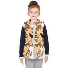 Cats Kittens Animal Cartoon Moving Kid s Hooded Puffer Vest