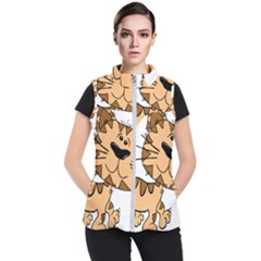 Cats Kittens Animal Cartoon Moving Women s Puffer Vest