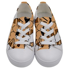 Cats Kittens Animal Cartoon Moving Kids  Low Top Canvas Sneakers