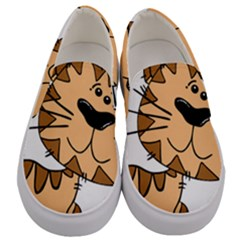 Cats Kittens Animal Cartoon Moving Men s Canvas Slip Ons