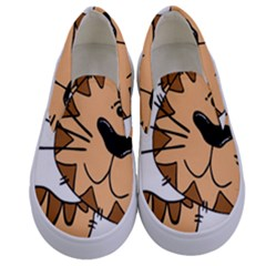 Cats Kittens Animal Cartoon Moving Kids  Canvas Slip Ons