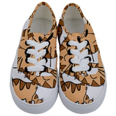 Cats Kittens Animal Cartoon Moving Kids  Classic Low Top Sneakers
