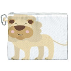 Lion Cute Sketch Funny Canvas Cosmetic Bag (xxl) by Simbadda