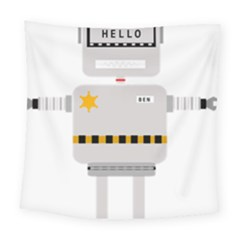 Robot Technology Robotic Animation Square Tapestry (large)
