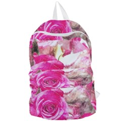 Rose Watercolour Bywhacky Foldable Lightweight Backpack by bywhacky