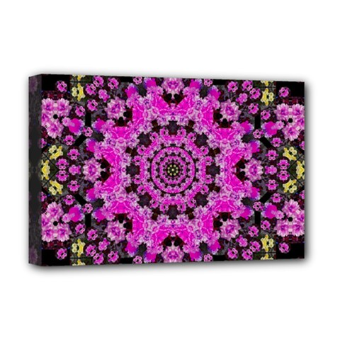 Namaste Decorative Flower Pattern Of Floral Deluxe Canvas 18  X 12