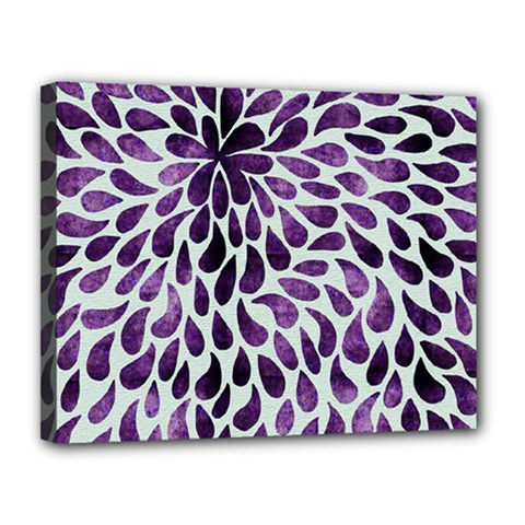 Purple Abstract Swirl Drops Canvas 14  X 11  by snowwhitegirl