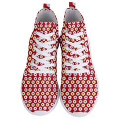 Eye Dots Red Pastel Men s Lightweight High Top Sneakers by snowwhitegirl